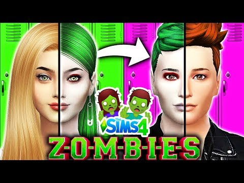 Disney ZOMBIES Characters OPPOSITE CHALLENGE!🧟♂️ Zombies vs Cheerleaders!   Disney ZOMBIES Sims 4