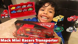 Disney Pixar Cars Mini Racers Mack Transporter | Mack Hauler | Lighting McQueen Mini Racer