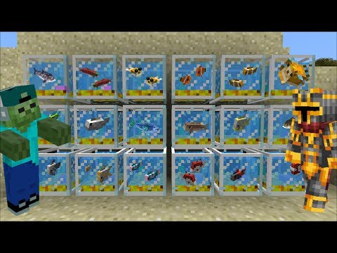 Minecraft MARK FRIENDLY ZOMBIE AND MC NAVEED HELP VILLAGERS WITH AQUARIUMS!! Minecraft Mods