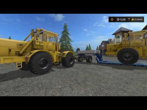 Farming Simulator 2017 (PS4) | Mod Showcase | Kirovets K-700A, Flood Lights, Road Sweeper