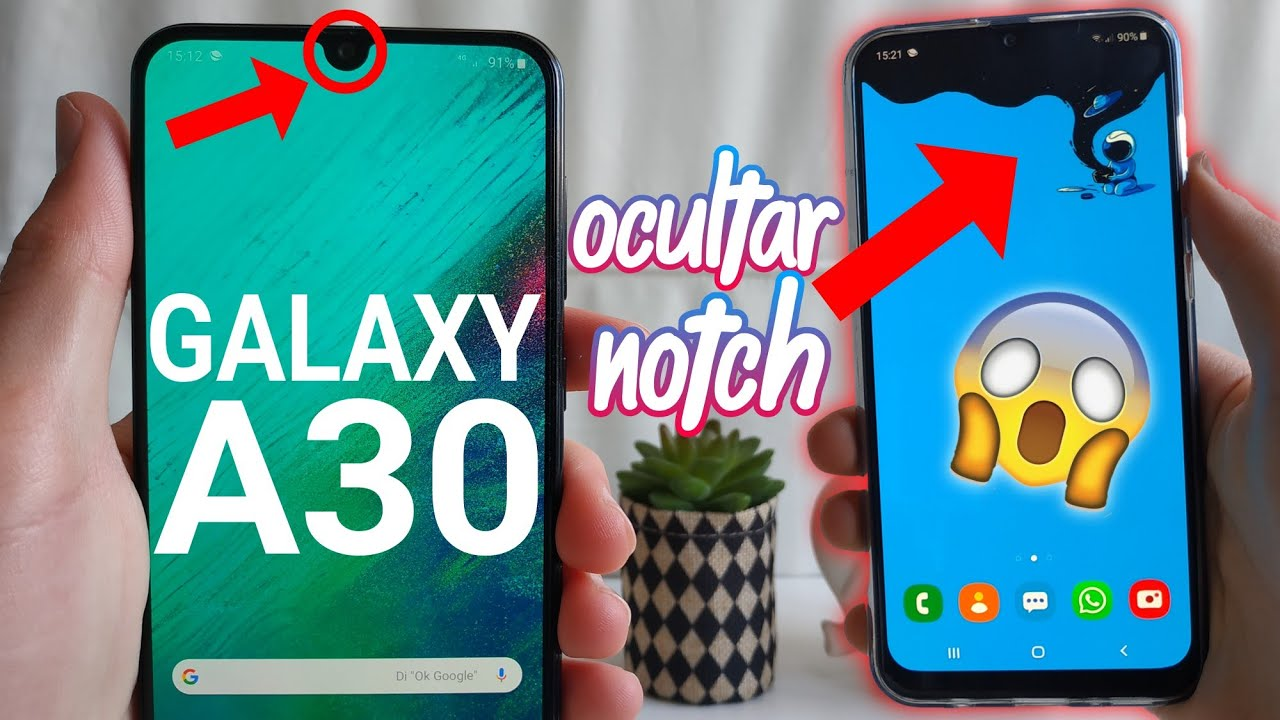 Samsung Galaxy A30 Elimina El Notch Así De Fácil Review En Español