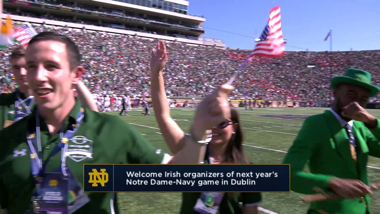 Ireland Delegation   Notre Dame vs New Mexico On-Field ...