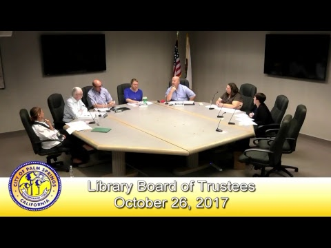 Library Board of Trustees | October 26, 2017