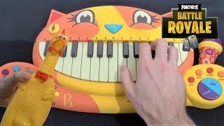Fortnite Dance - True Heart (Cat Piano Vs Chicken and Dog) ft Drum Calculator
