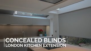 Blindspace - Concealed blinds in London kitchen extension