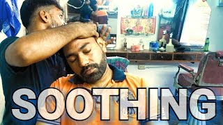 Head massage & neck Cracking ( Soothing)