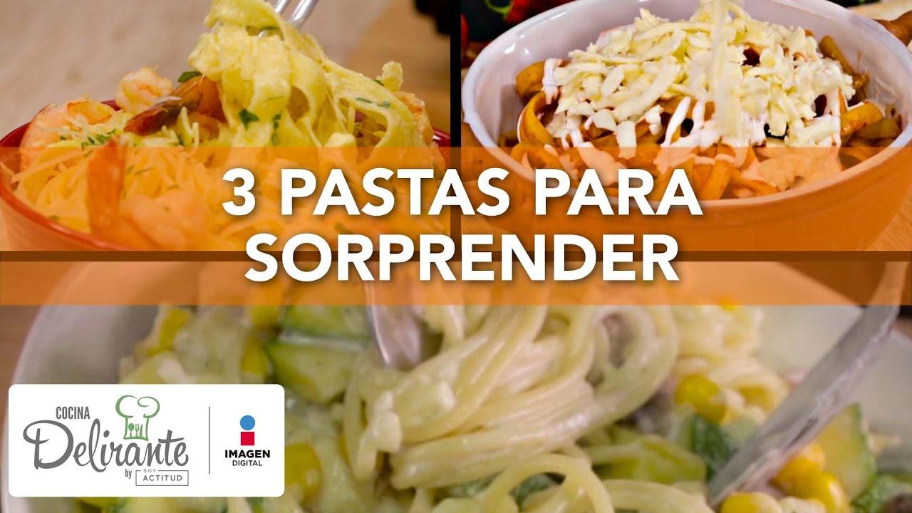 3 pastas para sorprender | Cocina Delirante - YouTube