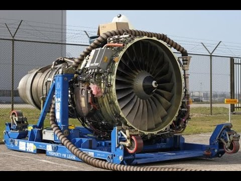 Big Aircraft Engines Starting Up
