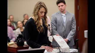 Isabell Hutchins opens Olympic box from Larry Nassar