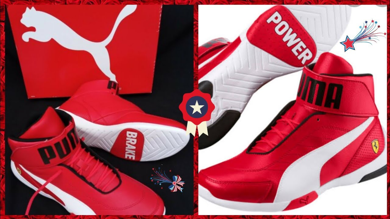 Myntra - New Puma red textured sf mid Kart cat mid top sneakers unboxing &  review..