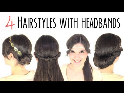 Easy hairstyles with headbands - YouTube