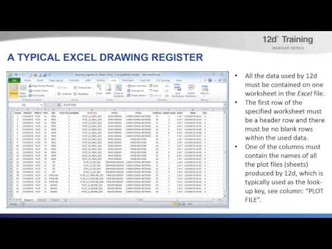 Title Block Variables and the Drawing Register from PPF Editors - Training Webinar Series