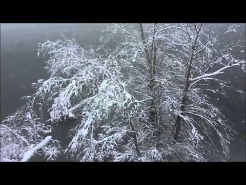 Snow fall in Lowell, Massachusetts