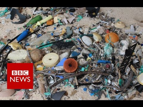 Island's rubbish density 'world's worst' - BBC News