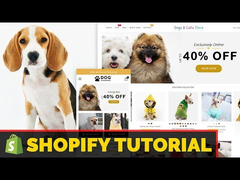 Shopify Tutorial For Beginners 2019 - How To Create A Profitable Pet Shopify Store From Scratch thumbnail