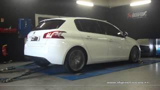 Peugeot 308 1.6 hdi 92cv Reprogrammation Moteur @ 129cv Digiservices Paris 77 Dyno