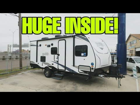 CRAZY SMALL Travel Trailer Bunkhouse RV! Surveyor Legend 19BHLE