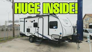 CRAZY SMALL Travel Trailer Bunkhouse RV! Surveyor Legend 19BHLE Video