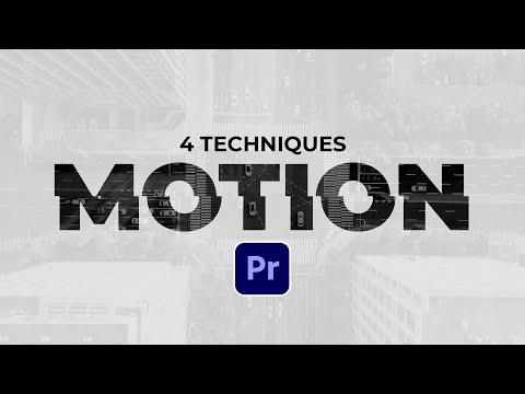 4 Editing Motion Graphics Techniques in Adobe Premiere Pro