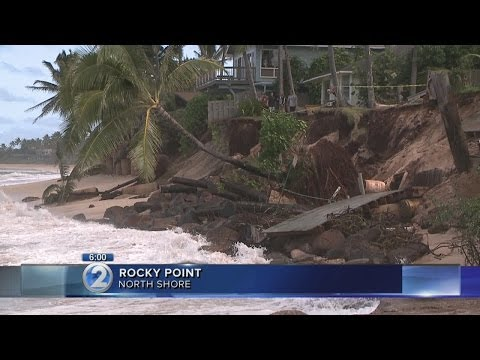 Erosion takes out more homes on Oahu