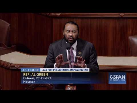 Rep. Al Green (D-TX) calls for Impeachment of President Trump (C-SPAN)