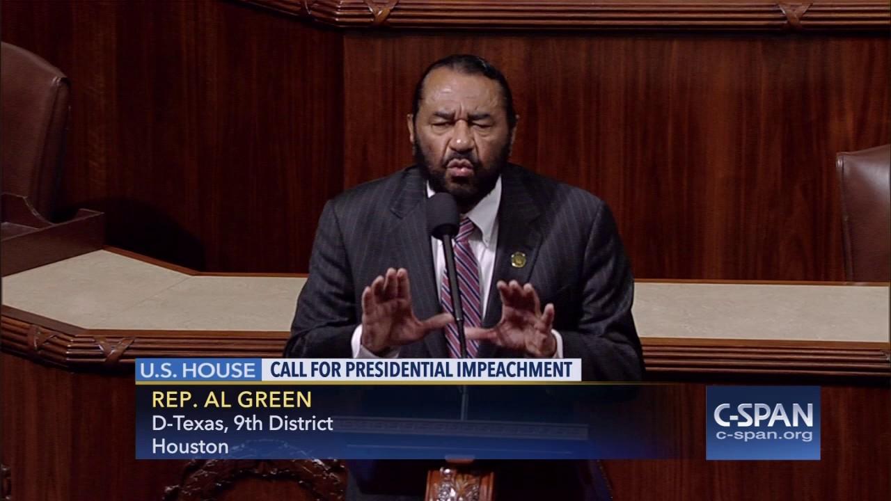 Texas Rep. Al Green calls for President Trump's impeachment on House floor