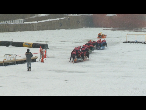 Ice canoeing: a winter sport making waves in Quebec
