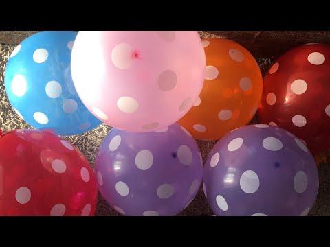 Игры с воздушными шарами для детей. Прятки в шариках. Лопаем Шарики