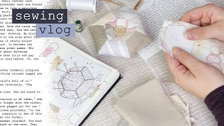 The Patchwork Pincushion Short Story – English Paper Piecing Sewing & Silent Studio Vlog