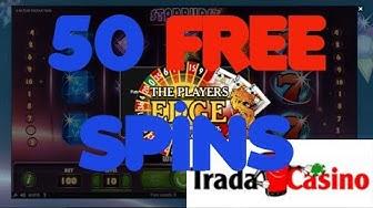 50 Freespins No deposit on Starburst Game at Tradacasino