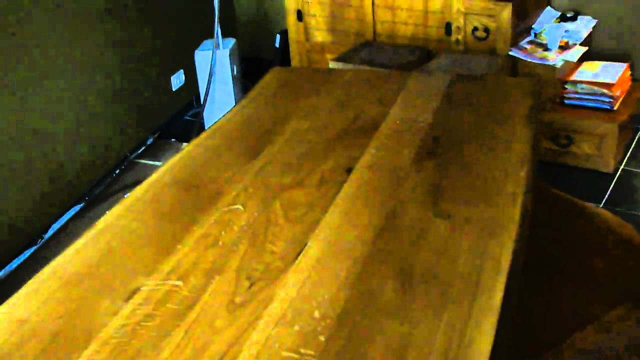 Eiken Keukens Belgie : Massief eiken boomstamtafel van Exclusive Woods YouTube