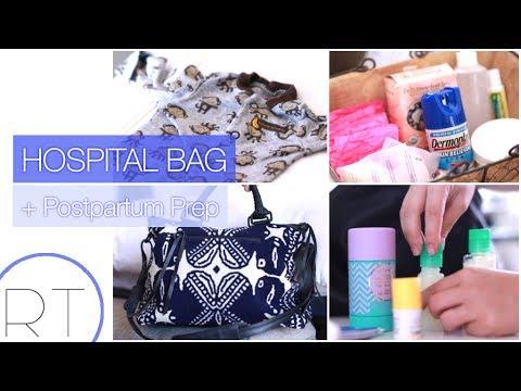Whats In My Hospital Bag + Postpartum Basket