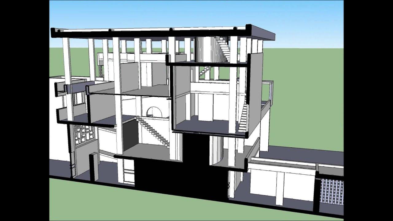 Villa shodan de le corbusier youtube for La maison de la mezzanine
