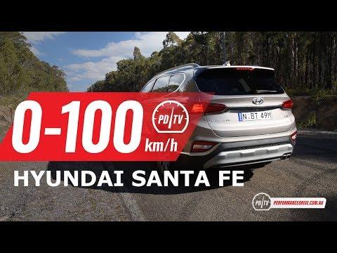 2019 Hyundai Santa Fe 0-100km/h & Engine Sound (diesel)