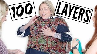 100 LAYERS of Clothes Challenge + HUGE ANNOUNCEMENT!