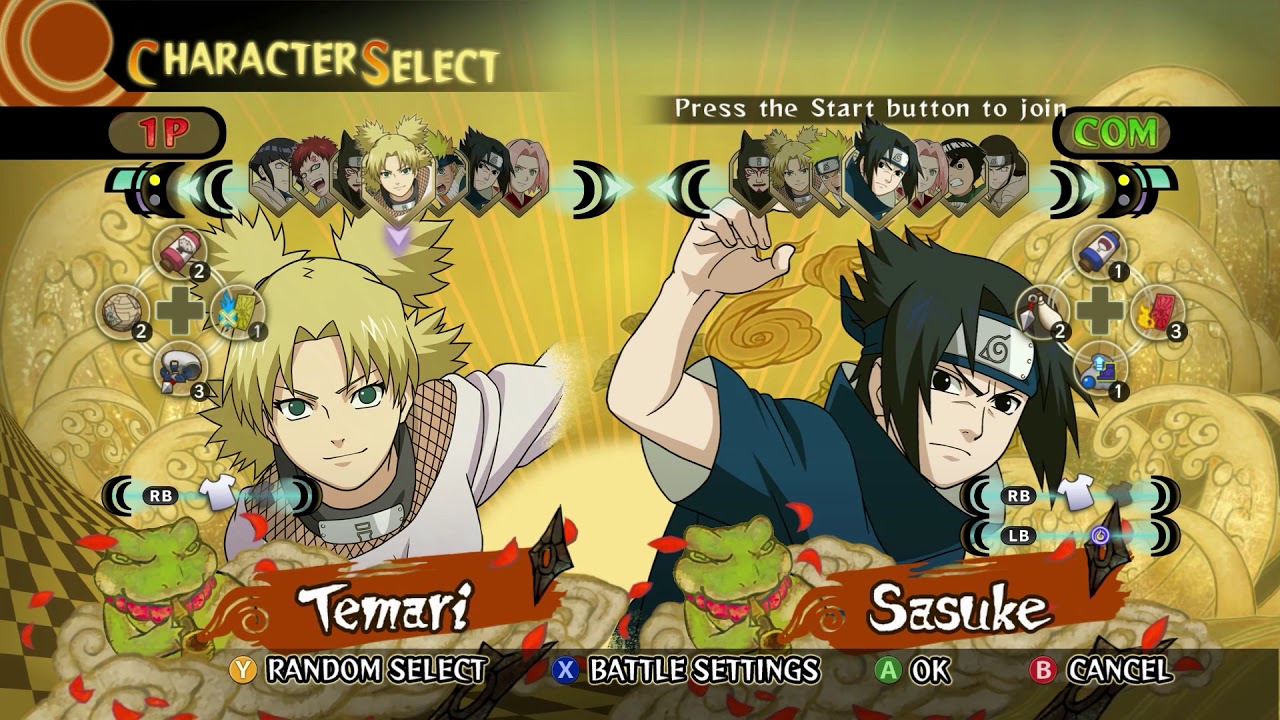 Naruto Ninja Storm Remastered Trilogy - All Characters