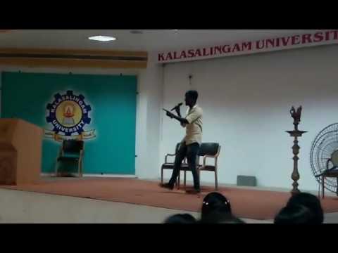 Architect Student ARAVIND from KALASALINGAM University