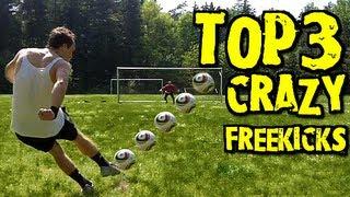 Top 3 Free Kicks - Best Free Kicks Montage Vol.4 | freekickerz