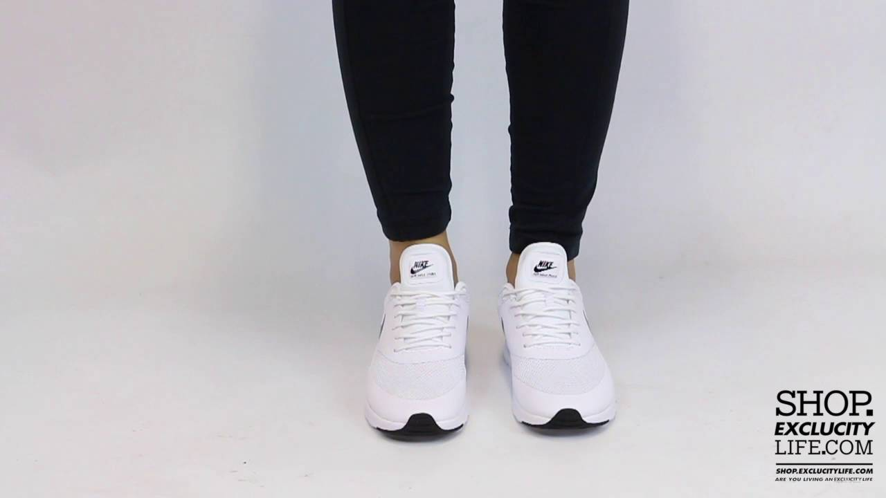 huge selection of 04ec7 3f261 Women s Nike Air Max Thea White Black On feet Video at Exclucity ...