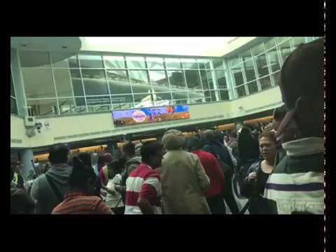 Chaos At Piarco International Airport