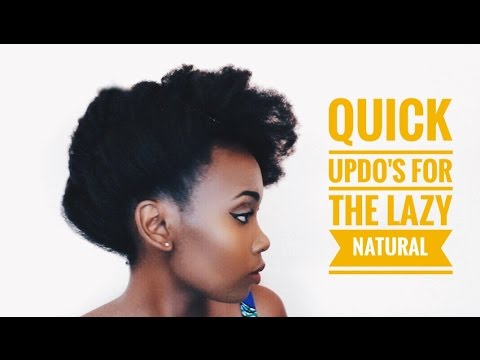 Quick & Easy Hair Updos For The Lazy Natural | 4C Hair | Lady Bawss | That African Girl