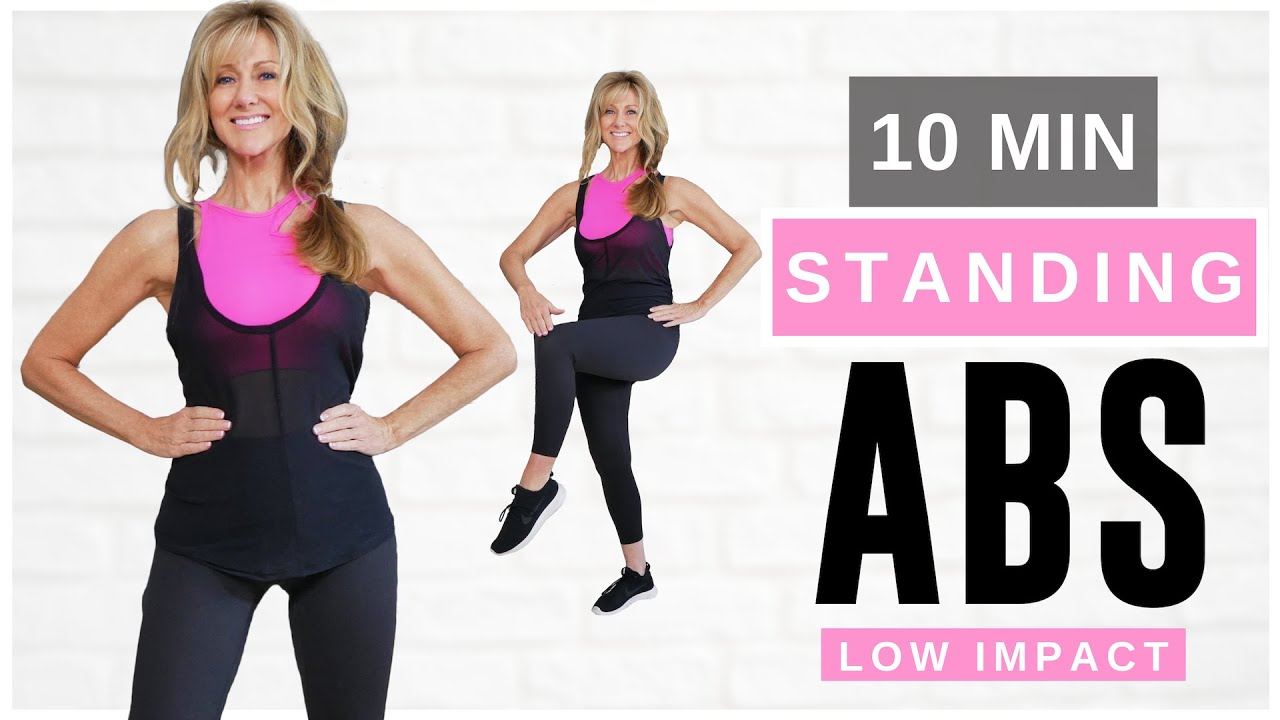 10 Minute STANDING ABS Indoor Workout For Women Over 50 | Burn Belly Fat!