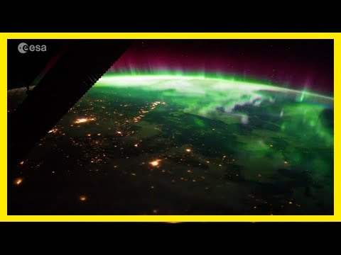 Breaking News | Space station astronaut captures stunning aurora from above the earth