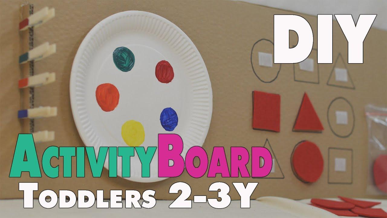 Diy Activity Board Ideen Für Kleinkinder Von Ca 2 3 Jahren