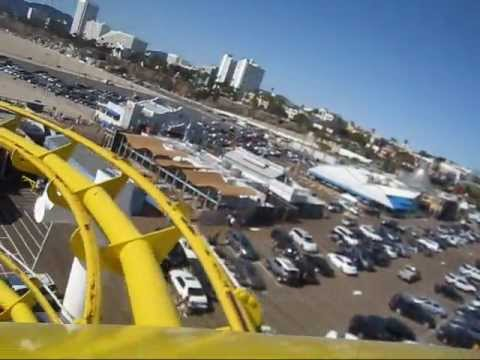 Santa Monica West Coaster Front Seat on-ride POV Pacific Park