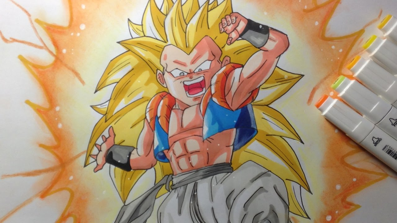 Dessin gotenks super saiyan 3 de dragon ball z youtube - Dessin de dragon ball super ...