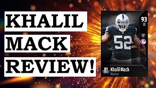HOW GOOD IS 93 MASTER KHALIL MACK? MUT 18 CARD REVIEW