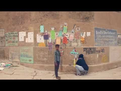Outdoor Graffiti Murals - Wall Paintings from Varanasi