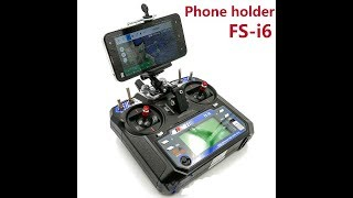 Крепление для телефона на аппаратуру FlySky i6