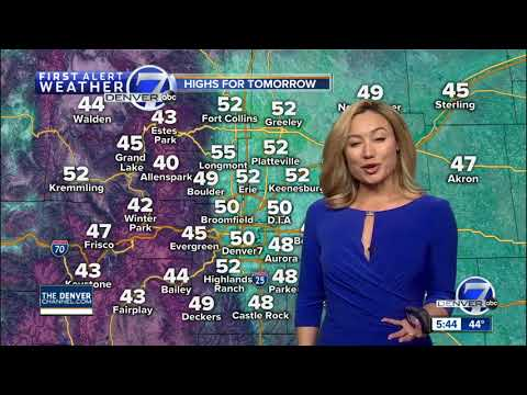 Clearing skies in Denver and cooler for Sunday across Colorado